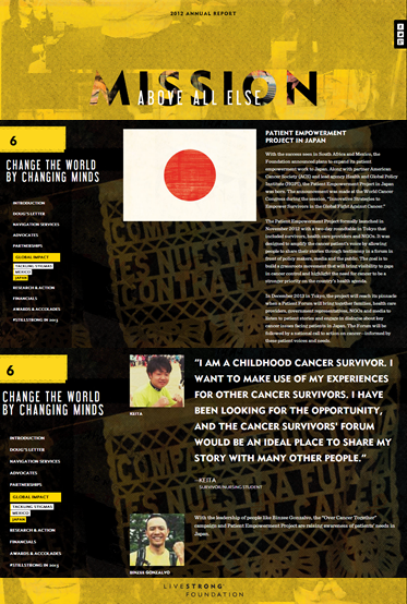 LIVESTRONG Annual report 2012
